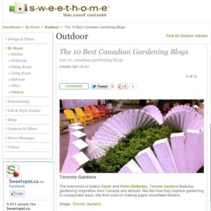 SweetSpot10BestCanadianGardenBlogs